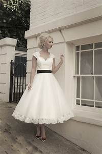 short calf length tulle and lace wedding dress with lace With calf length wedding dresses