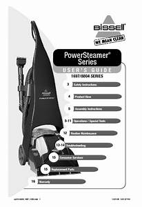 Bissell Power Steamer Pro Deluxe Instruction Manual