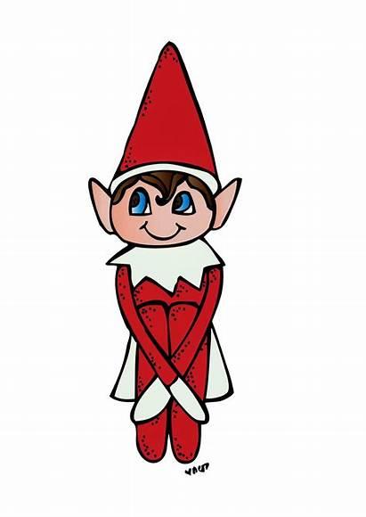 Elf Shelf Clipart Cartoon Christmas Clip Fun