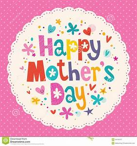 Happy Mother's Day Card Stock Vector - Image: 44159137