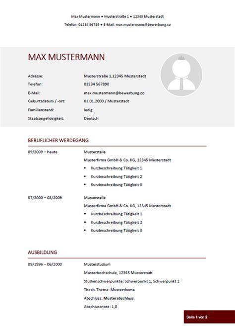 Lebenslauf Vorlage Pdf by Lebenslauf Muster Vorlagen Fr Die Bewerbung 2018vorlage