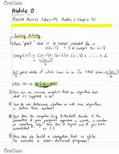 Cpsc 121- Final Exam Guide