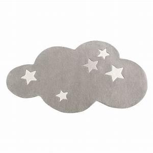 Tapis Forme Nuage : tapis nuage poils courts en laine grise 75 x 100 cm maisons du monde ~ Teatrodelosmanantiales.com Idées de Décoration