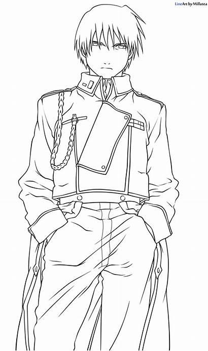 Roy Mustang Alchemist Fullmetal Drawing Anime Drawings