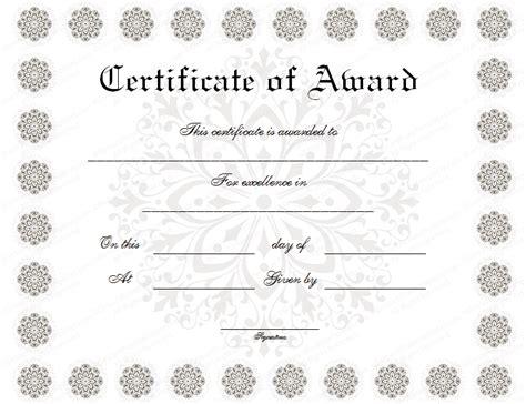 award certificate template formal award certificate templates blank certificates