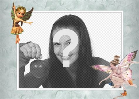 mettere cornice a foto cornice per foto con le immagini delle fate alate