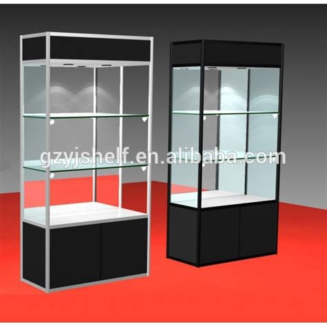 light up glass display wooden jewelry display stand