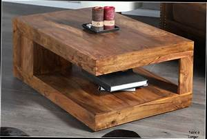Table Basse De Salon En Bois Massif Table Basse Carree
