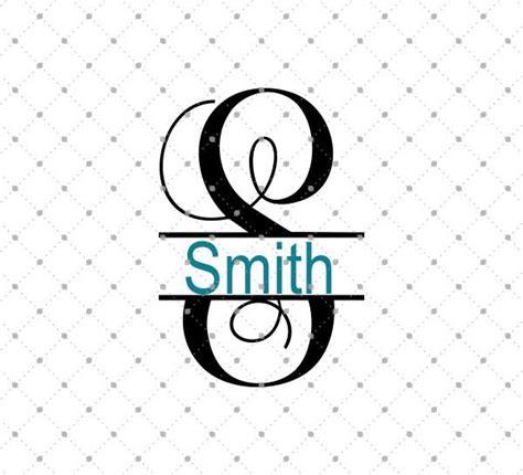 split vine monogram font svg png dxf cut files  cricut silhouette svg cut studio