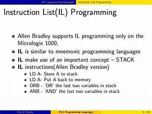 Plc Programming Languages Instruction List