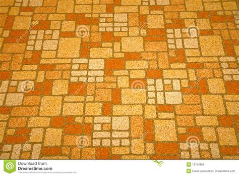 Linoleum Tile From The 1970s. Royalty Free Stock Photo