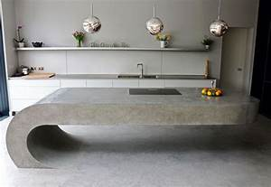 cantilevered concrete kitchenettes concrete kitchen With kitchen cabinet trends 2018 combined with metal musical wall art