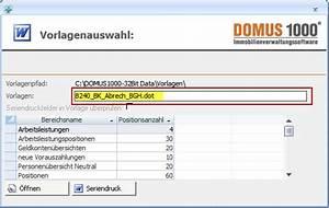 Weg Gesetz Abrechnung : abrechnungs bergabe an word seriendruck domus software ag ~ Themetempest.com Abrechnung