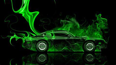pontiac firebird side fire abstract car  el tony