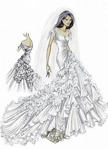 wedding gown sketches wedding style inspiration lane With how to draw a wedding dress