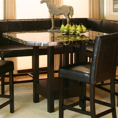 Pub Dining Table by Chatham Square Clipped Corner Pub Table W Faux Marble Top