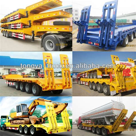 semi truck manufacturers low bed truck semi trailer manufacturer tongya 3 4 axles