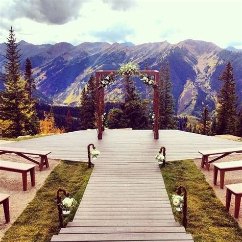 The Wedding Deck The Little Nell In Aspen Colorado I