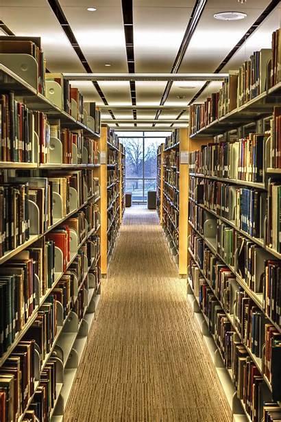 Library Hallway Rich Books Rows Job Desktop