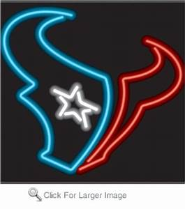 Houston Texans Neon Sign only $299 99 Neon NFL Logo Signs