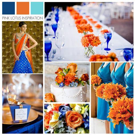 gallery orange and royal blue wedding ideas