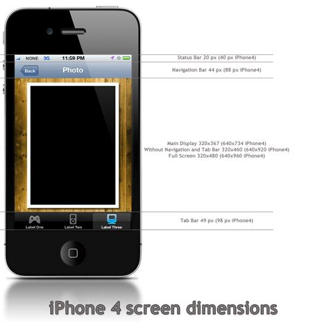 iphone 4 dimensions in inches images