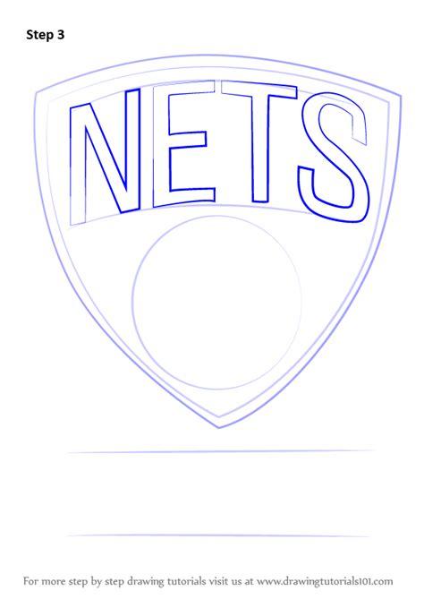 learn   draw brooklyn nets logo nba step  step