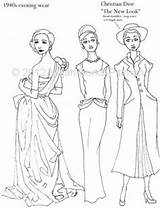 Coloring Flapper 1920s History Adult Template Draw Embroidery Pioneer Dressing Through Sketch Sheets Similar Patterns sketch template