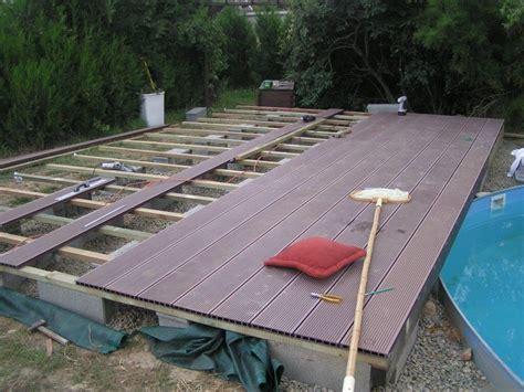 terrasse de piscine en bois composite par flem 31 sur l air du bois