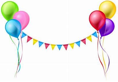 Streamer Clip Balloons Birthday Happy Clipart Yopriceville