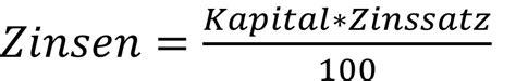 zinsen berechnen einfache zinsrechnung kapital zinsen
