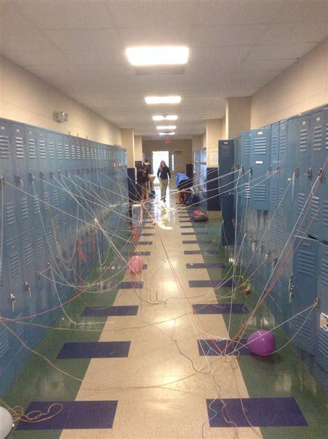 senior prank    thrown