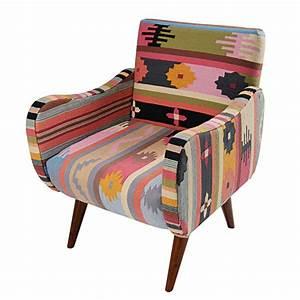 Maison Du Kilim : fauteuil arrequipa en tressage kilim multicolore et ~ Zukunftsfamilie.com Idées de Décoration