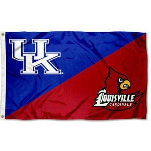 Kentucky vs. Louisville House Divided 3x5 Flag and Banner ...