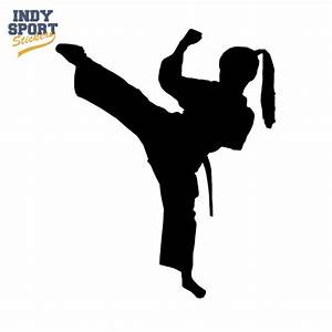 Martial Arts Karate Female Girl Kicking Silhouette - Indy ...