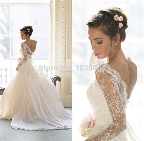 sleeve lace open back wedding dress lace wedding dress with the shoulder sleeves and open