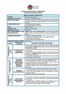 lesson plan template for english teachers templates With lesson plan template for esl teachers
