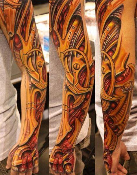 biomechanical sleeve tattoos tattoofanblog