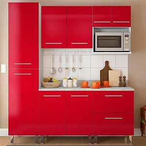 ud83e, udd47, combo, muebles, de, cocina, modulares, 1, 85, metros, rojo