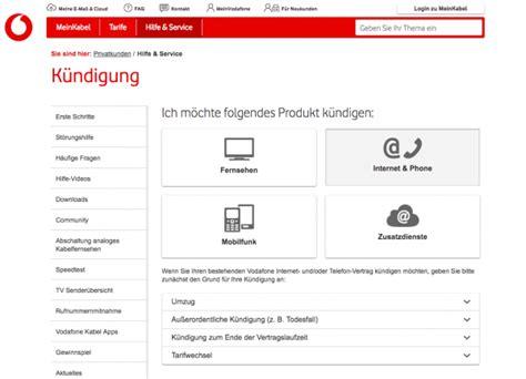 vodafone kabel deutschland kuendigen anleitung und vorlage