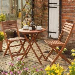 outdoor bistro set patio table and chairs 3 pc wooden