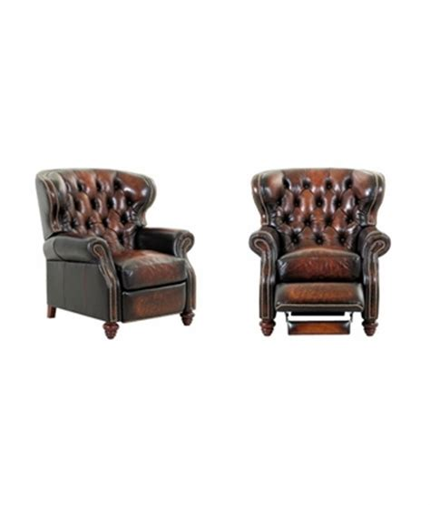 chesterfield leather button tufted reclining wingback arm
