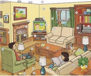 living room vocabulary english lesson pdf With living room furniture words