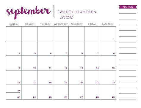 september  calendar template  tumblr september