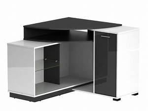 Ikea Meuble D Angle : meuble tv d 39 angle amael avec rangements blanc ou ch ne ~ Teatrodelosmanantiales.com Idées de Décoration