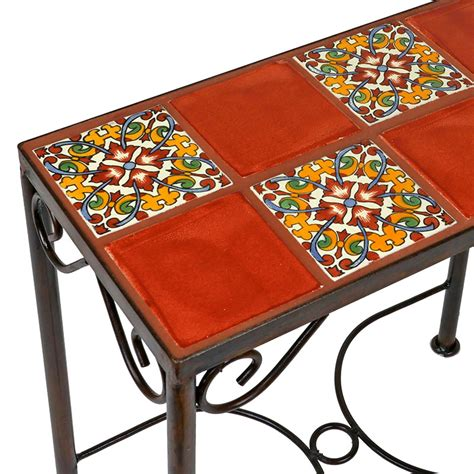 mexican tile coffee table mexican tile tables home design ideas and pictures