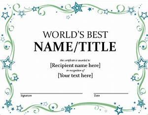 Word Certificate Template 51 Free Download Samples