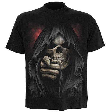 spiral mens finger  death  shirt black clothing zavvi