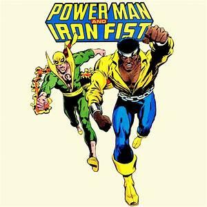 Power Man Iron Fist T-shirt retro Marvel superhero Luke ...