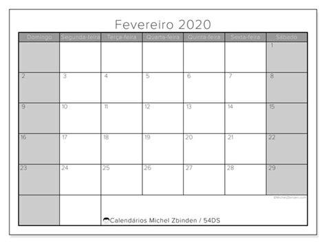 calendario fevereiro ds michel zbinden pt